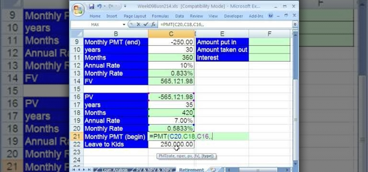How to Create a savings plan with Excel's FV & PMT functions ...