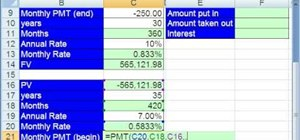 Create a savings plan with Excel's FV & PMT functions