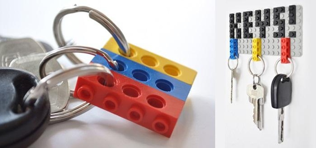 Repurpose Your Old LEGO Bricks into a Functional Hanging Key Holder