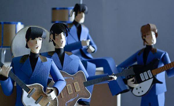 I Want One. Paper-Made John, Paul, Ringo & George