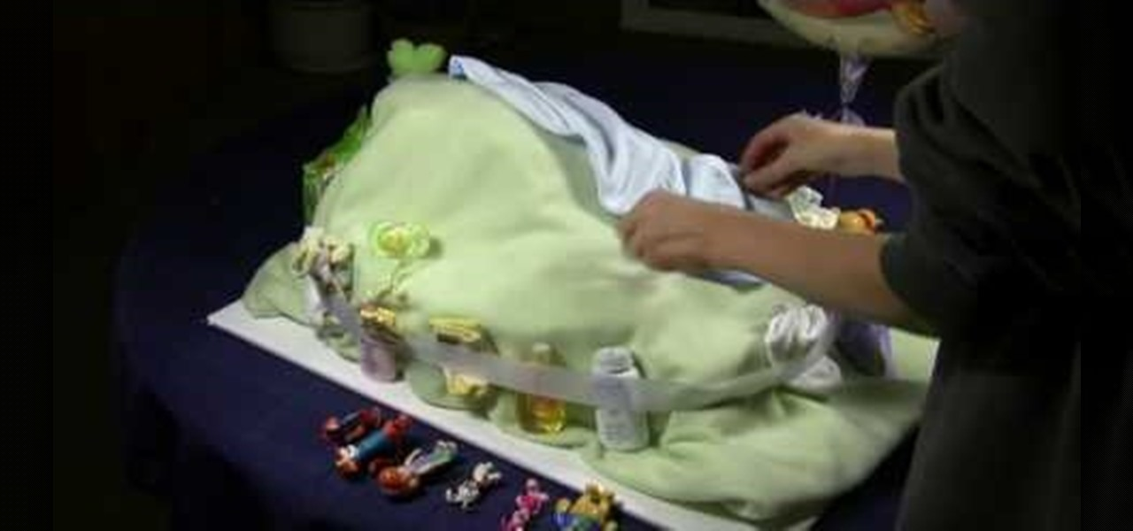 How To Make A Winnie The Pooh Diaper Cake For A Baby Shower