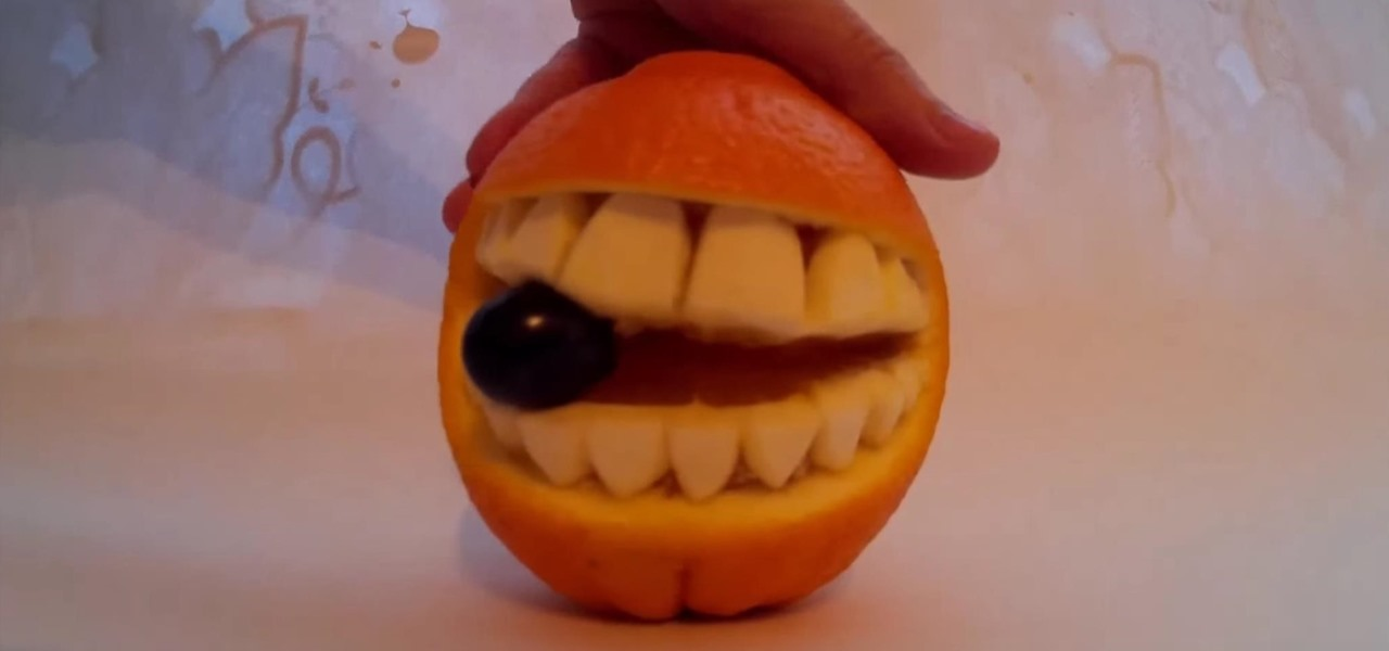How to fruit carve an orange into a smiley face « fruit wonderhowto
