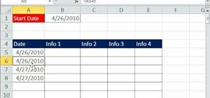 Repeat each successive date in an Excel date column
