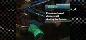 Use a Cyclone tool to clean your bike chain