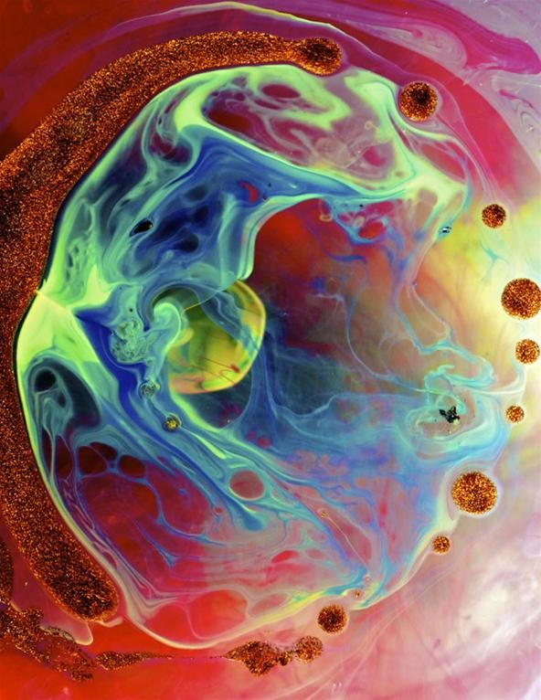 Creating the Cosmos With Ink, Paint & Water