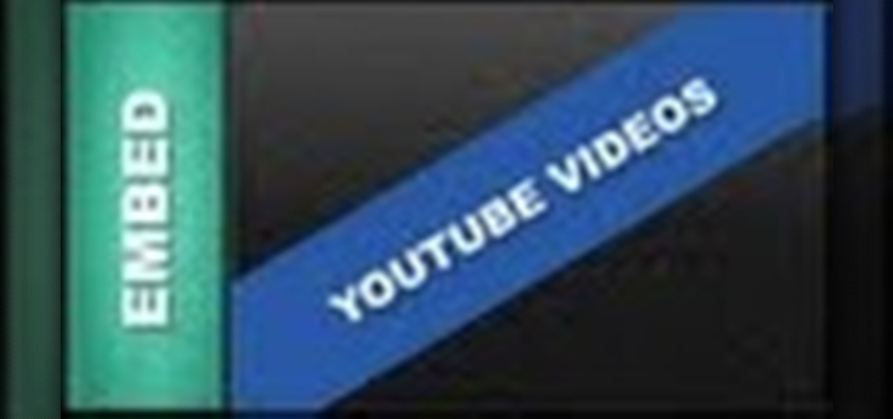 Embed a Youtube Video Using Xara Web Designer