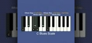 Play blues scales on the piano