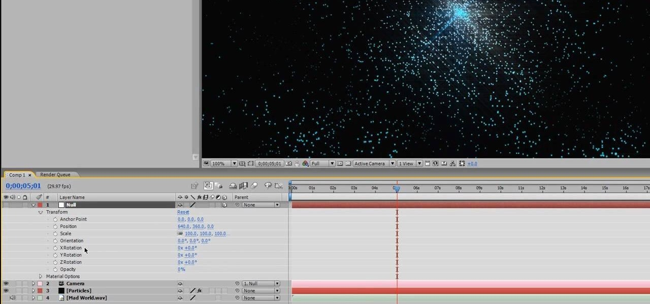 How to Create an audio particle spray effect in After