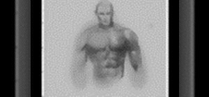 Draw a muscular male superhero body step by step