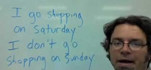 "Use the phrase ""go shopping"" in American English"