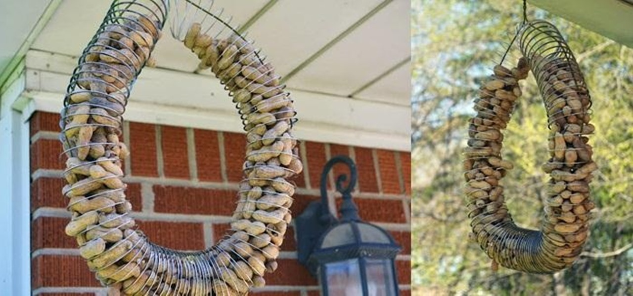 How To: Turn An Old Metal Slinky And Coat Hanger Into A Bird Feeder