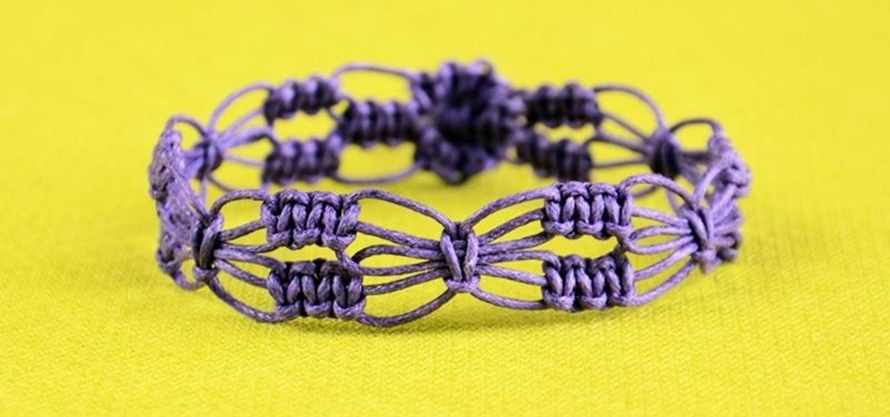 Diy Easy Square Knot Flower Bracelet Jewelry Wonderhowto