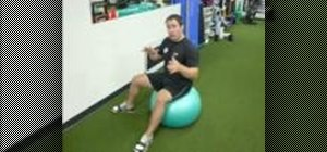 Tone obliques with side ab crunches on a swiss ball