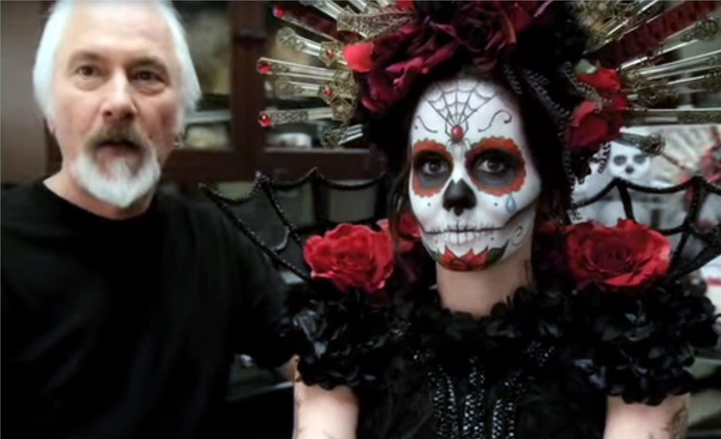 Lady In Painted Skull Face