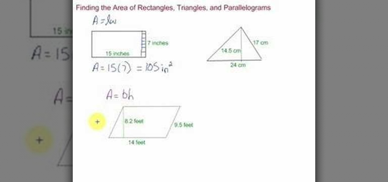 How To Find The Area Of Rectangles Triangles Rectangles