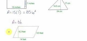 Find the area of rectangles, triangles & rectangles