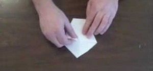 Make a paper cup using origami