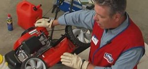 Change oil in a lawnmower with Lowe's
