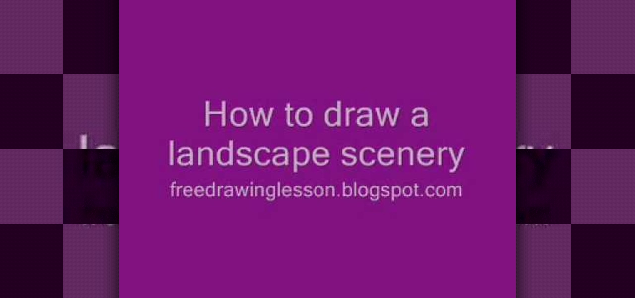 Landscape Pictures For Drawing Draw a Landscape Scenery