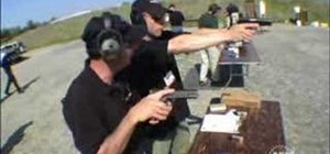 Shoot a combat pistol