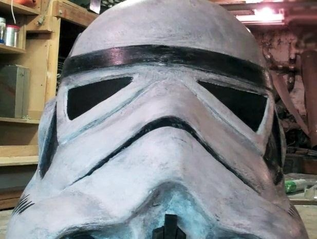 How to Carve a Styrofoam Stormtrooper Helmet for Halloween