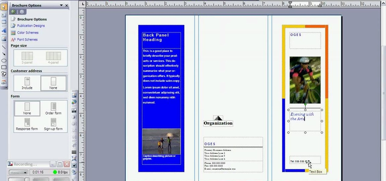 How to create a brochure in microsoft publisher for Microsoft word templates for brochures