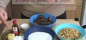 Make chocolate peanut rocks with coconut flakes