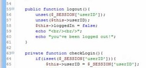 Use PHP to create a session class to keep track of users