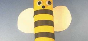 Make an easy toilet paper roll bumble bee