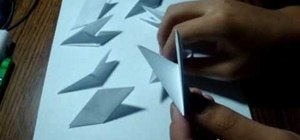 Make an 8 sided ninja star out of paper