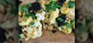 Cook curried cauliflower steaks with raisin chutney