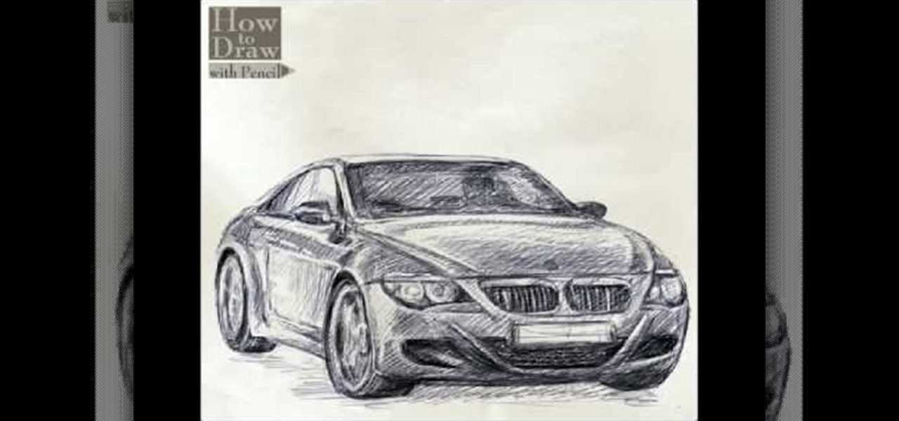 How To Draw A Bmw Car Drawing Illustration Wonderhowto
