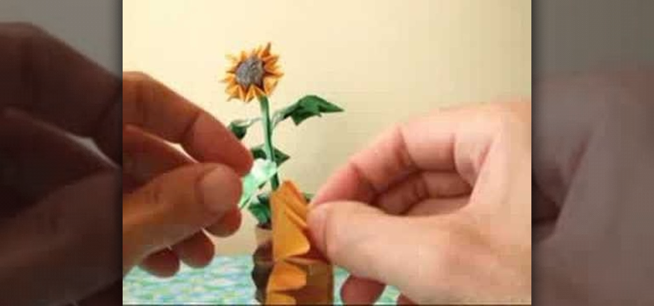 How To Origami A Sunflower Origami Wonderhowto