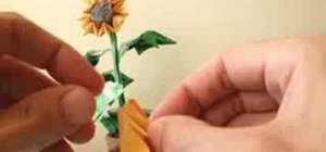 Origami a sunflower