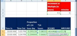 Round to the nearest 1/10th of an hour in MS Excel