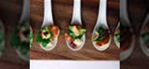 Make caramelized seared scallops with sunchoke purée and herb salad