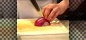 Cut and chop a red onion
