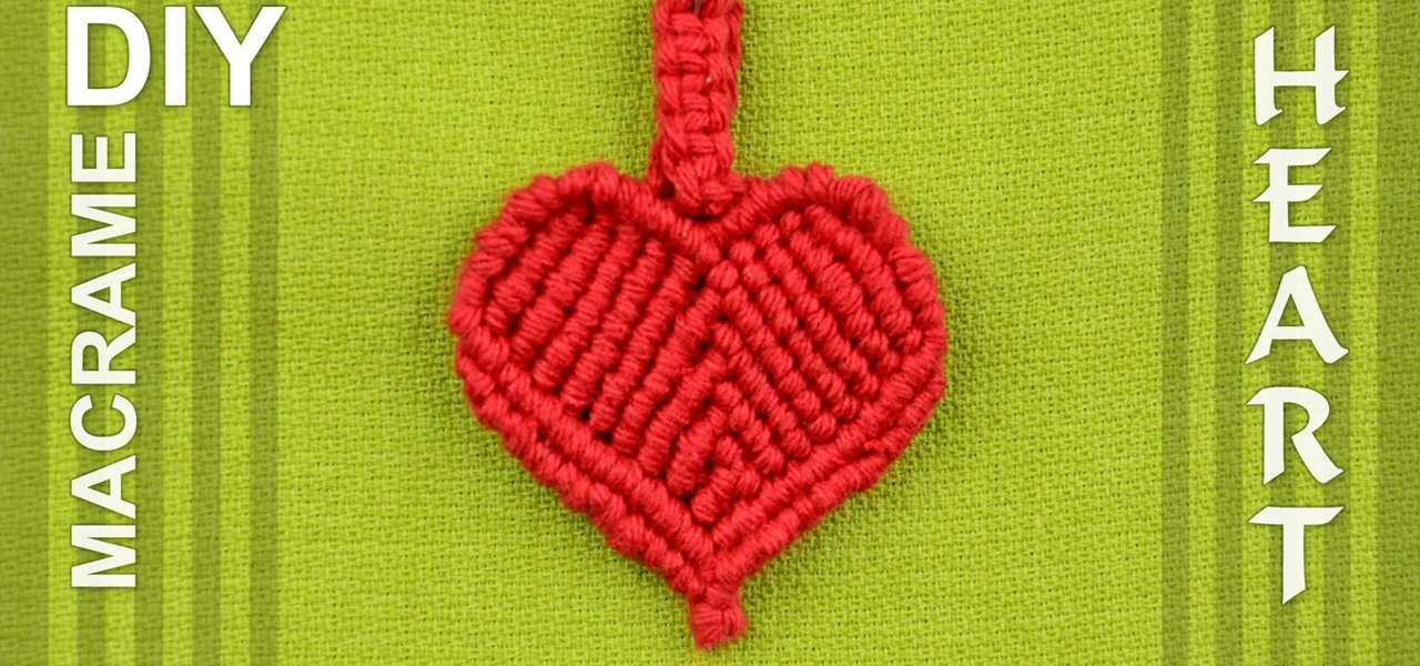 Make a Macrame Heart / DIY