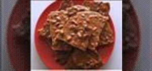 Make yummy crunchy peanut brittle