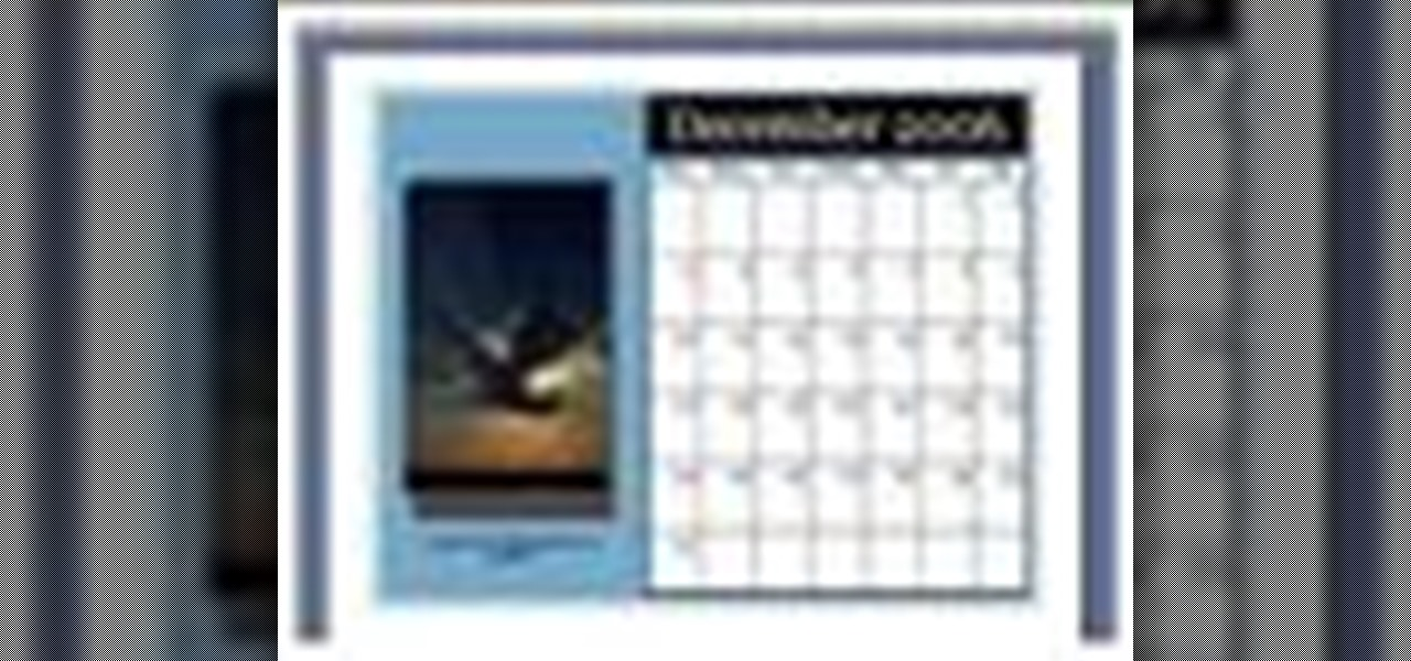 How To Make A Calendar With Microsoft Publisher