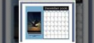 Make a calendar with Microsoft Publisher