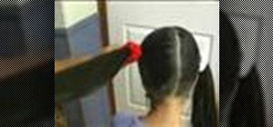 Make two pony tails