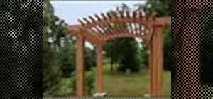 Builda garden arbor