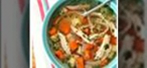 Make chicken soup in under an hour