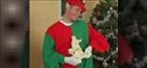 Make an Elf costume for Christmas