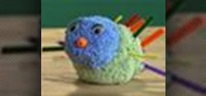 Make a friendly foam porcupine