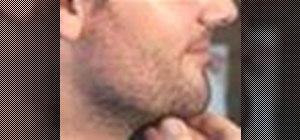 Trimyour beard with a razor