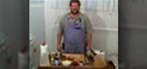 Make stuffed roasted capon
