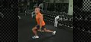 Do a reverse lunge with bicep curl