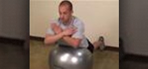 Do back hyperextension exercises on a stability ball